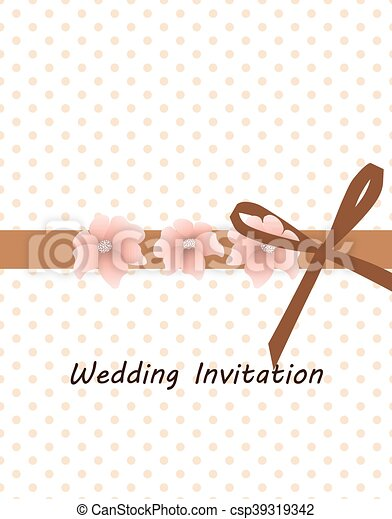 Traditional vintage invitation card with dots and flower in eps traditional vintage invitation card csp39319342 stopboris Gallery