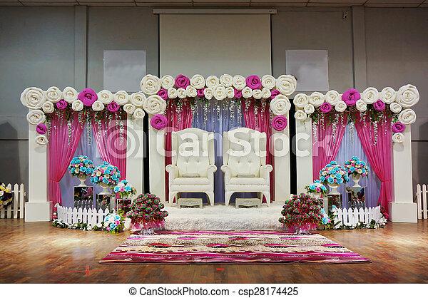 Malay Traditional Wedding Stage Decoration