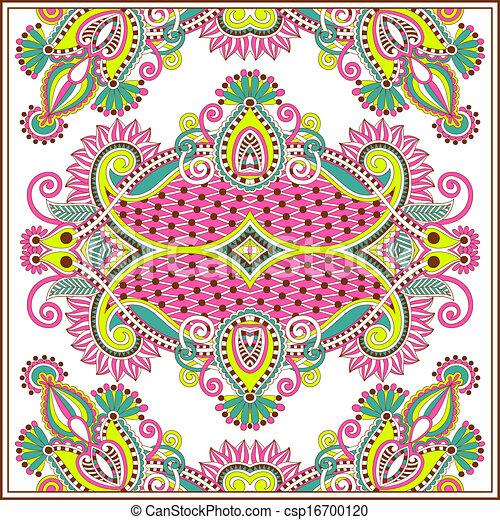 traditionele , decoratief, paisley, floral, bandanna - csp16700120