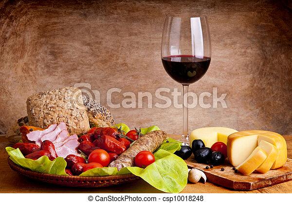 traditionele , voedingsmiddelen, wijntje - csp10018248