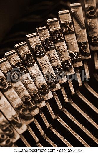 traditionell, vapen, boktryck, skrivmaskin - csp15951751