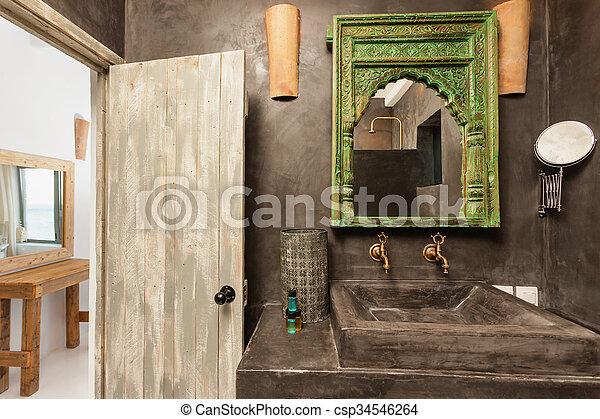 traditionelle , dekoration, badezimmer, luxus