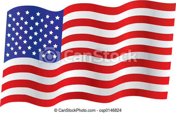 Traditionelle US-Flagge - csp0146824