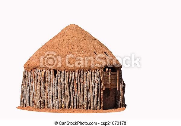 traditionelle , himba, hütten, leute - csp21070178