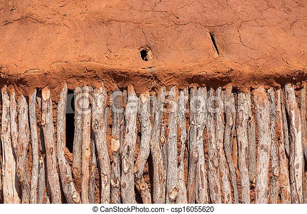 Traditionelle Hütten von Heba-Leuten - csp16055620