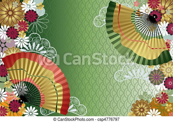 traditionelle, mønster, japansk - csp4776797