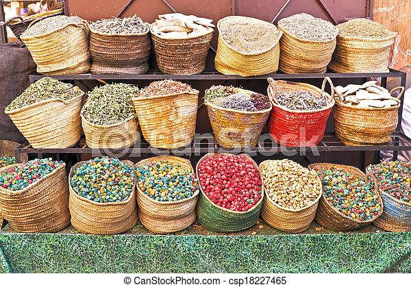traditionelle , marokko, markt - csp18227465