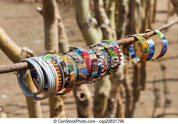 Masai traditionellen Schmuck - csp22831796