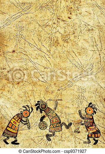 afrikanische traditionelle Muster - csp9371927
