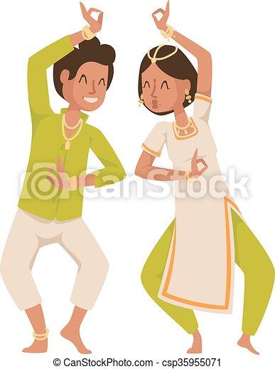 traditionnel, culture., fête, indien, bollywood, danseur - csp35955071