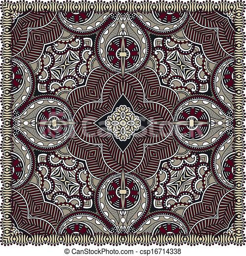 traditionnel, décoratif, paisley, floral, foulard - csp16714338