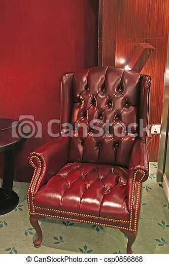 traditionnel, fauteuil cuir