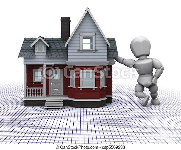 Traditionnel maison homme bois construction render for Dessins de construction de maison