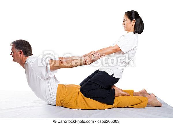 traditionnel, thaï, masage - csp6205003