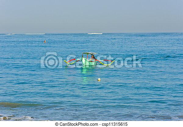 tradizionale, balinese, barca - csp11315615
