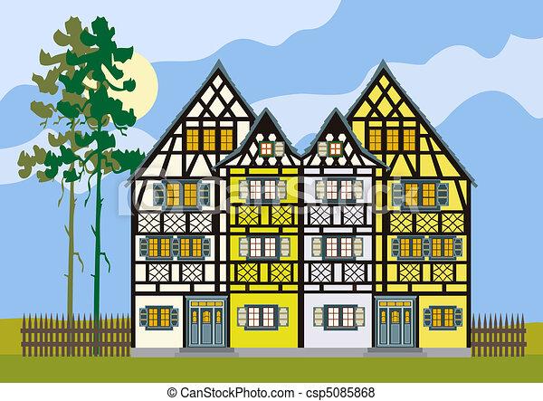 Tradizionale cottage casa fattoria europa ago vecchio for Piani casa cottage shotgun