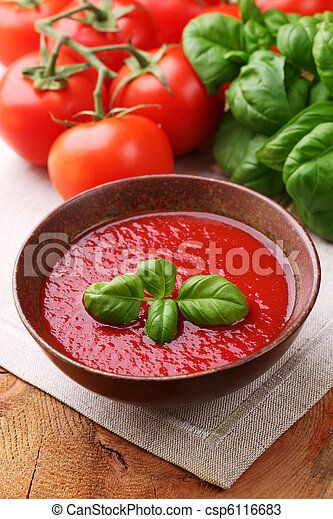 tradizionale, minestra pomodoro - csp6116683
