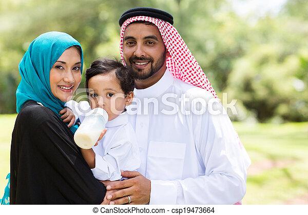 tradizionale, musulmano, famiglia - csp19473664