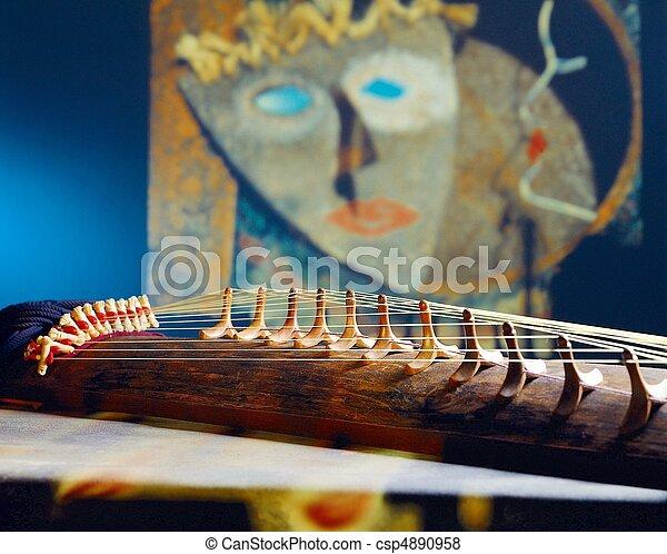 tradizionale, strumento, coreano - csp4890958