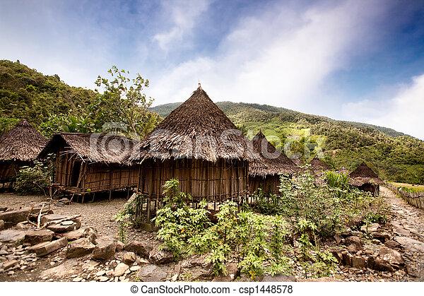 tradizionale, villaggio - csp1448578