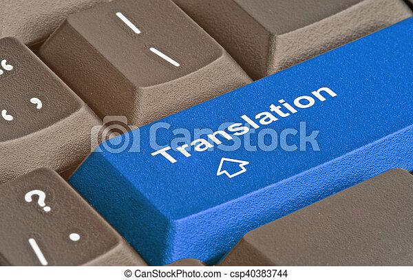 Teclado con llave para traducción - csp40383744