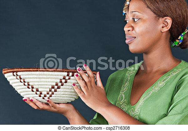 tradycyjny, kobieta, afrykanin - csp2716308