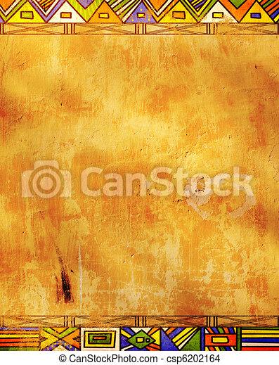 tradycyjny, wzory, afrykanin - csp6202164