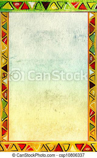 tradycyjny, wzory, afrykanin - csp10806337