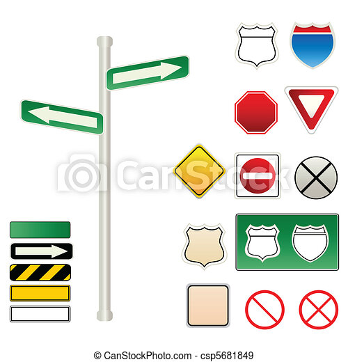 Traffic and road signs - csp5681849