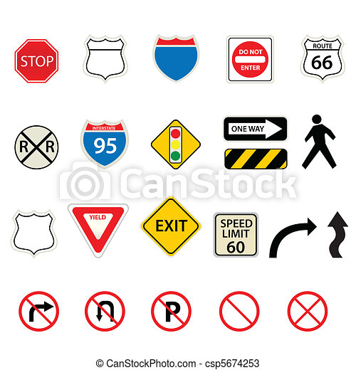 Traffic and road signs - csp5674253
