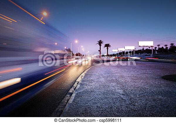 Traffic at Las Vegas Blvd., Las Vegas, USA. - csp5998111