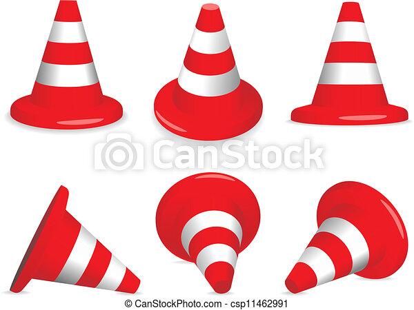 Conos de tráfico - csp11462991