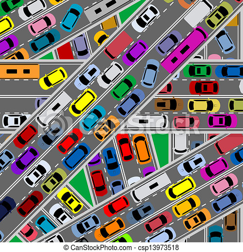 traffic congestion on roads for modern city problems concept rh canstockphoto com traffic clipart traffic clipart gif