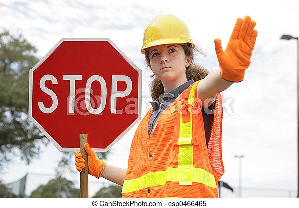 Traffic Directing Stop - csp0466465
