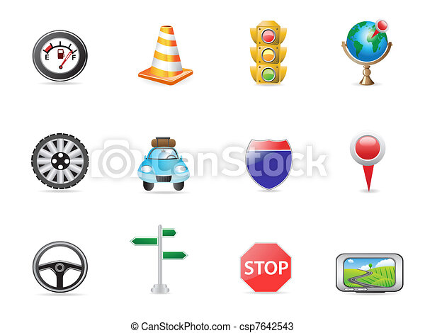 traffic icon set - csp7642543