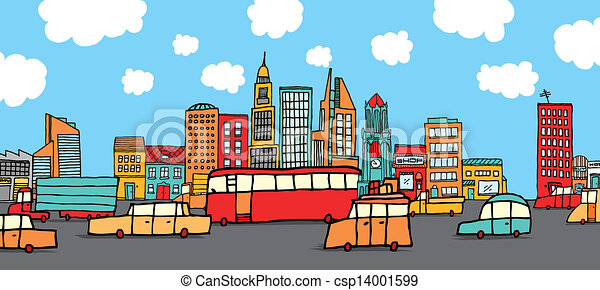 Traffic in the city - csp14001599