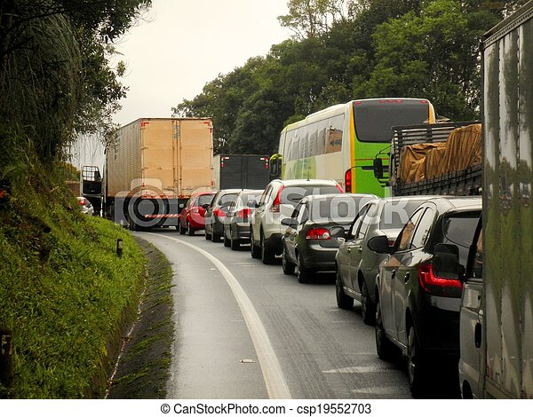Traffic Jam Brazil Highway - csp19552703