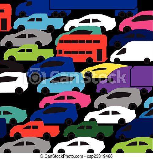 traffic jam rh canstockphoto com traffic clipart black and white traffic clipart black and white