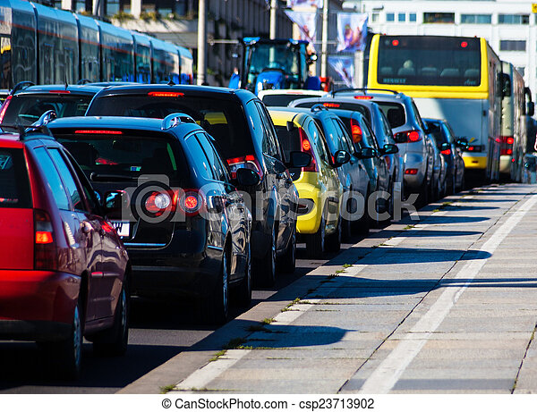 traffic jams in the city - csp23713902