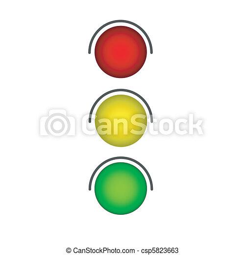 traffic light, ampel gr?n - csp5823663