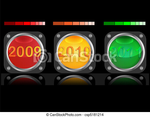 Traffic light and date - csp5181214