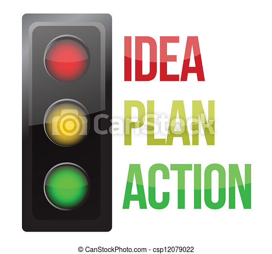 Traffic light design planning business process - csp12079022