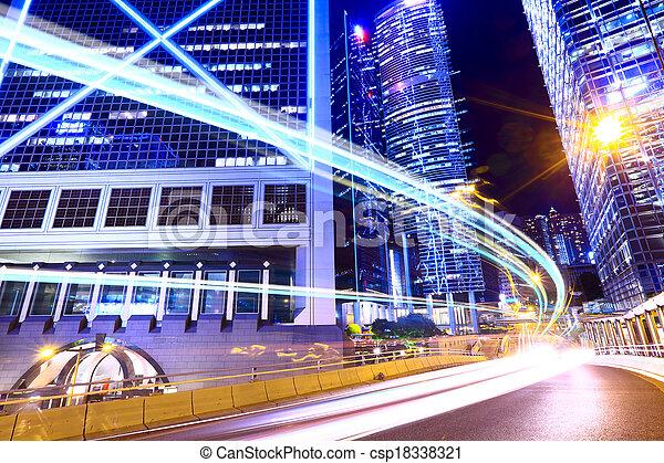 Traffic light in modern city - csp18338321