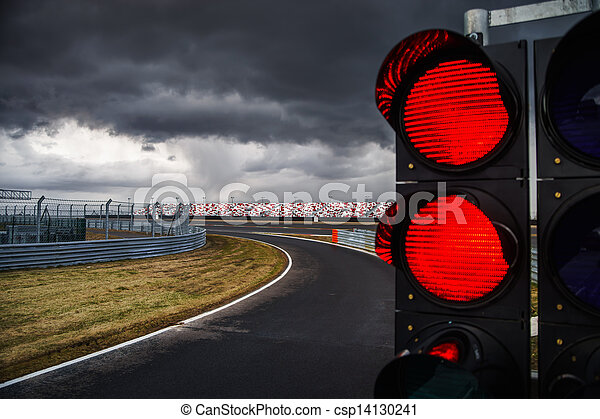 Traffic light on race track for formula competition traffic light on race track csp14130241 aloadofball Gallery