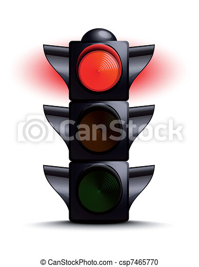 traffic light on red. | canstock  can stock photo