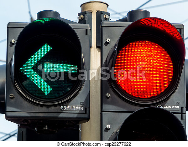 traffic light with red light and green light - csp23277622