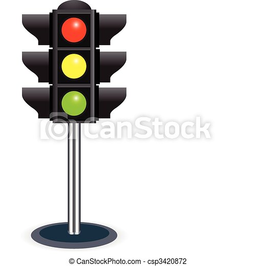 traffic lights isolated on white background bitmap version rh canstockphoto com traffic light clipart black and white traffic light clip art without lights