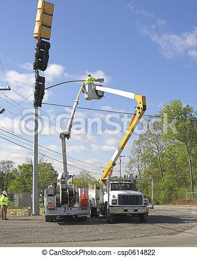 Traffic lights installed 3 - csp0614822