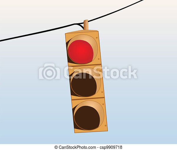 Traffic lights on the wire - csp9909718