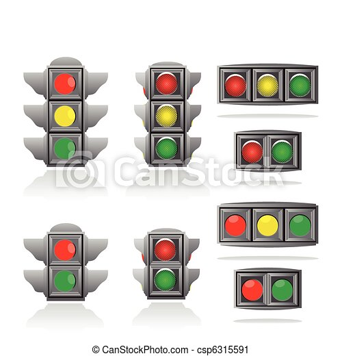 Traffic lights - csp6315591